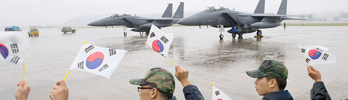 Korea hails the delivery of American military aircraft technology