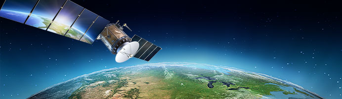 Satellite technology orbiting the earth